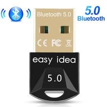 Adaptateur USB Bluetooth 5.0 Dongle Mini USB récepteur Bluetooth Audio musique, transmetteur Bluetooth 5.0 dents bleues pour ordinateur