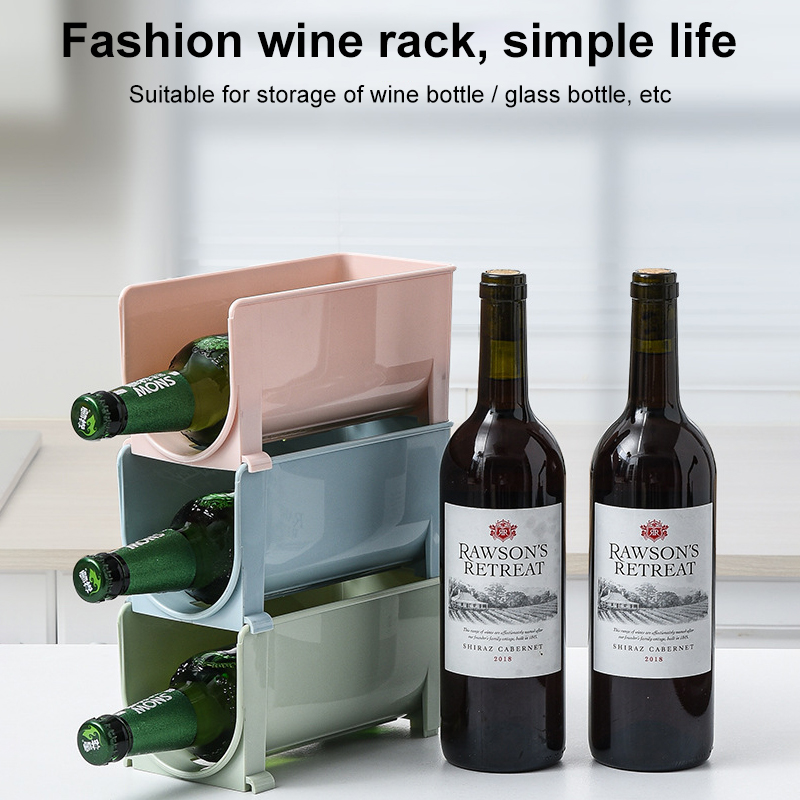 Refrigerator Organizer U Shaped Plastic, Wine Bottle Storage For Fridge
