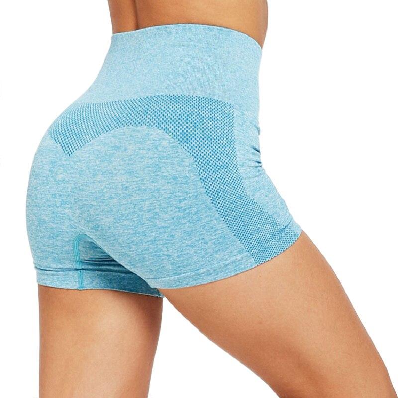 High Waist Spandex Gym Shorts Scrunch Butt Leggings Women Yoga Fitness Running Summer Bodybuilding Workout Seamless Shorts Black