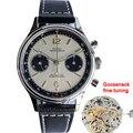 Мужские деловые механические часы Panda Eyes 1963  38 мм  с хронографом  ST1901