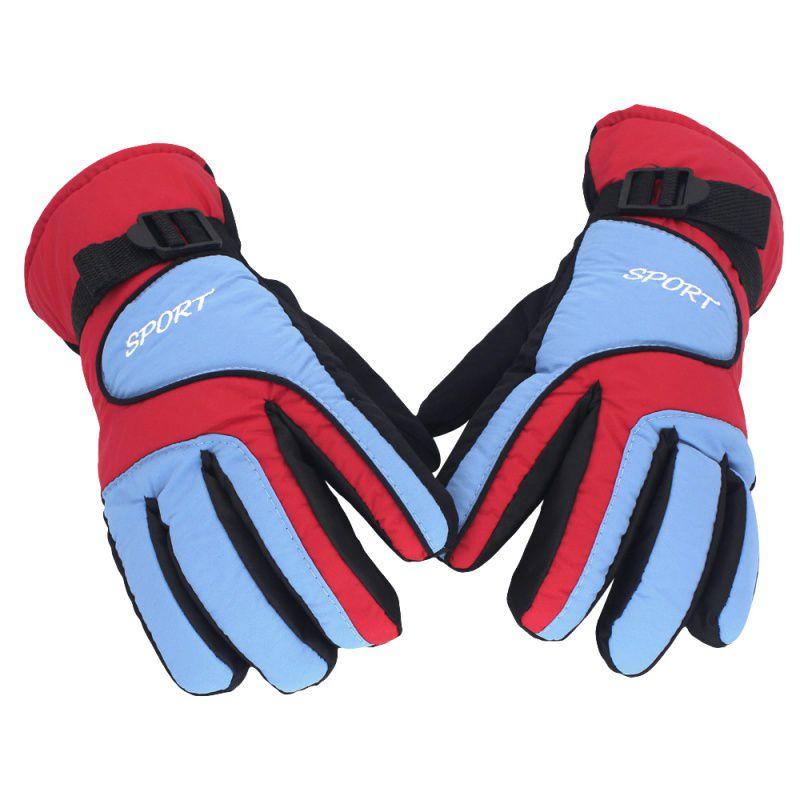 Зимние теплые ветрозащитные водонепроницаемые лыжные перчатки для спорта на открытом воздухе удобные мужские женские перчатки для сноубо...