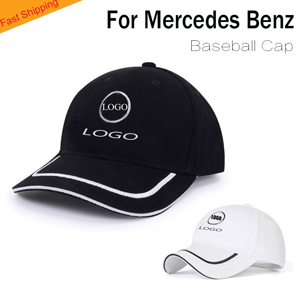 สำหรับ Mercedes เบสบอลหมวกหมวกโลโก้รถ Sun Visor กลางแจ้งผู้ชายสะโพกสูงสุดสำหรับ Mercedes Benz หมวก headdress chapeau Black
