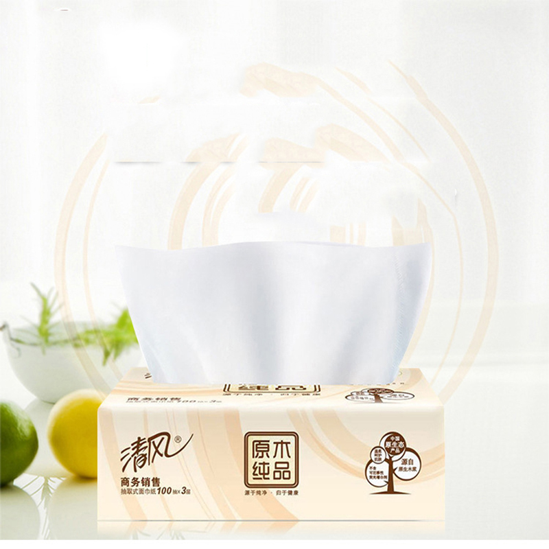 4 Bag 400 Pumping 3-Tier Clean Soft Sanitary Paper Extraction Comfortable Unchemistry Safe For The Home Filter Toilet Tissue
