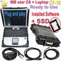 MB star c6 дсцп может мультиплексор с программным обеспечением xen-попробуйте жесткий диск SSD VCI C6 WI-FI с функцией ноутбук CF-19 диагностики VCI SD Connect C6