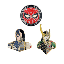 Brooch Badge Shirt Pin Jeans Charm-Pins Avenger Loki Movie Bucky Winter Soldier Spider-Enamel