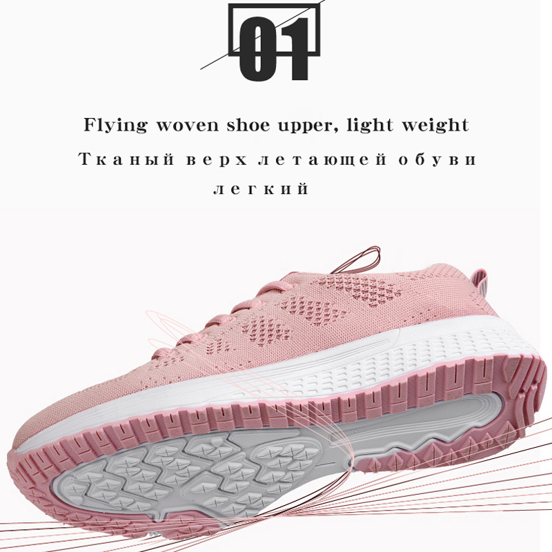 2020 Women Shoes Flats Fashion Casual Ladies Walking Woman Lace-Up Mesh Breathable Female Sneakers Zapatillas Mujer Feminino 4