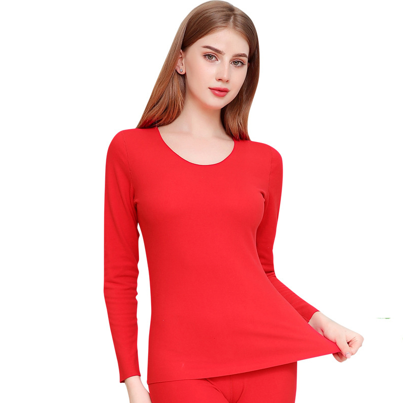 Men&Women Close-fitting Red Long Johns Plus Size 3XL Thermal Underwear Breathable Clothing Intimate Lingerie Warm Soft Pajamas