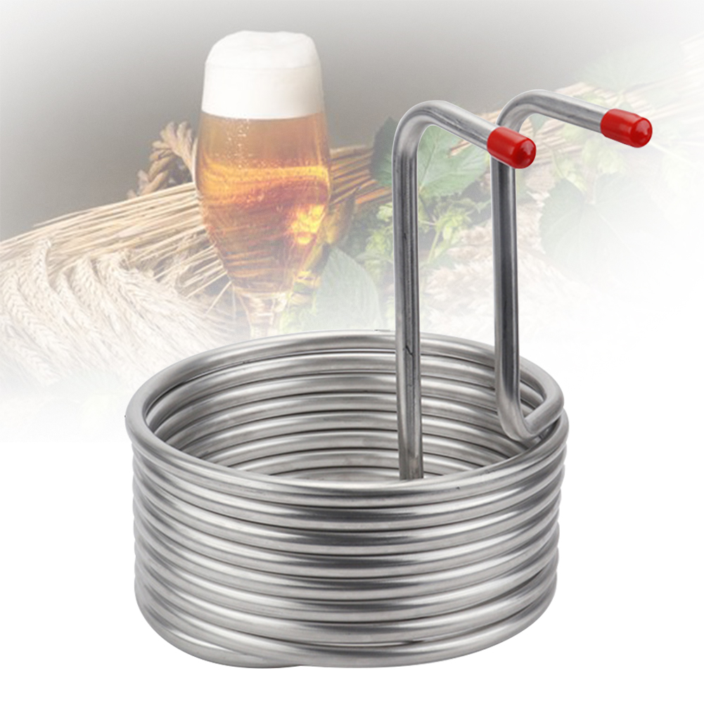 8M Super Efficient 304 Stainless Steel Beer Cooling Coil Home Brewing Immersion Wort Chiller Pipe Bar Wine Making Machine Part
