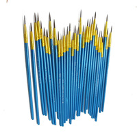 10 pçs pintura à mão fina linha gancho caneta azul arte suprimentos desenho arte caneta pincel de pintura escova de náilon caneta papelaria
