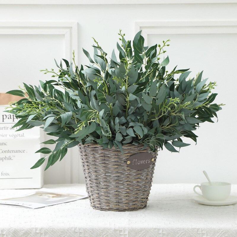 Искусственные цветы искусственные растения для дома украшения ветки ивовые листья плетеные искусственные цветы искусственные листья зеленые растения|Искусственные растения|   | АлиЭкспресс