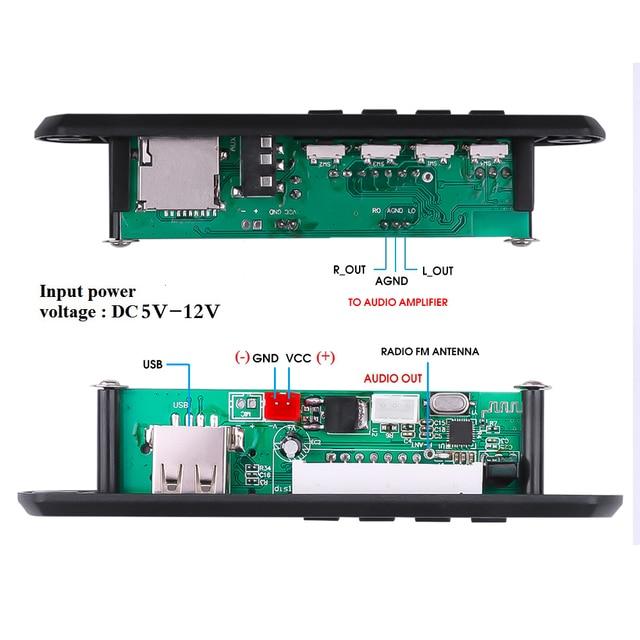 5V 12V MP3 WMA Decoder Board Audio Module USB TF Radio Bluetooth5.0 Wireless Music Car MP3 Player With Remote Control 2