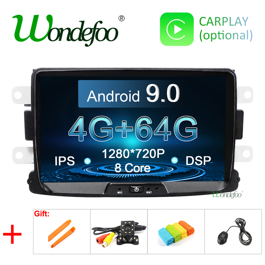 8 IPS SCREEN DSP 4G 64G Android 9 0 Car Multimedia player For Dacia Sandero Duster