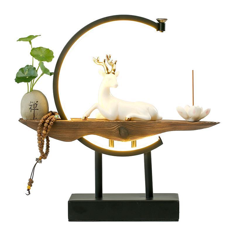 cachoeira incenso titular aromaterapia forno cerâmica incenso com 20 pçs cones incenso