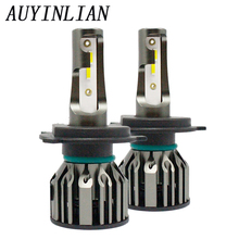AUYINLIAN With luces led H4 alta y baja  bulb CSP Chips Car Headlight H1 H11 H8 HB3 9005 HB4 9012 H7 880 6000k 6500k 12V
