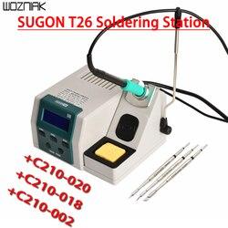 SUGON T26 Blei-freies Löten Station 2S Schnelle Heizung Lötkolben Kit JBC griff universal 80W Power heizung System JBC Spitze