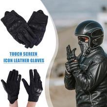 Натуральная кожа Внедорожные мото-перчатки с сенсорным экраном мужские велосипедные перчатки женские мотокросса Водонепроницаемые электрические велосипедные перчатки мотоперчатка