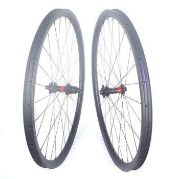 цена на Cheap Superlight 1070g 29er mtb carbon wheels wide 24mm 27mm 30mm 33mm 35mm XC 29inch bike mountain 29er carbon mtb wheelset