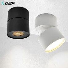 DBF – Spot lumineux à Angle réglable monté en Surface, ampoule remplaçable GX5.3, 7W, en nid d'abeille, Source de lumière