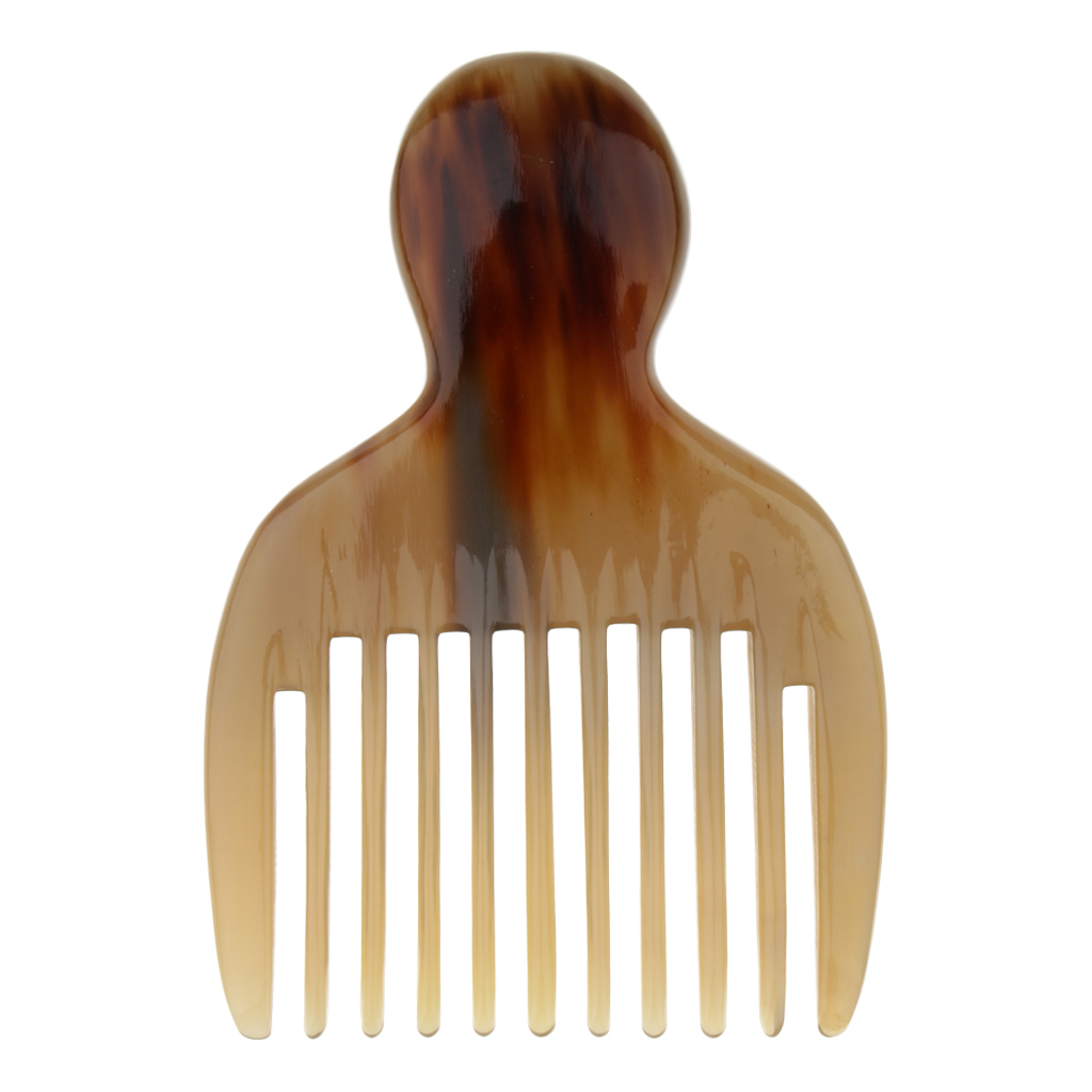 Natural Horn Afro Comb African American Pick Comb Hair Brush Hairdressing Styling Tool