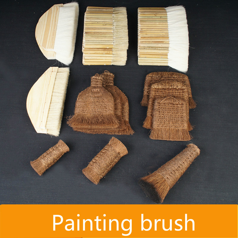 Wool Brush Chinese Painting Watercolor Painting Wool Bristle Painting Brush Paste Hand Mounting Shading Joint Palm Brush