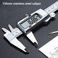 Цифровой штангенциркуль из нержавеющей стали, 0-150 мм