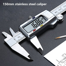 0-150mm Stainless Steel Digital Caliper mm/inch Vernier Caliper Electronic Metal Pachometer Measuring Gauge Caliber