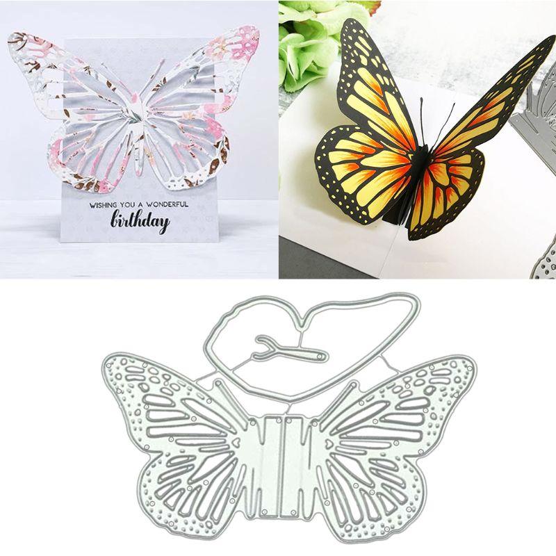 DIY Butterfly Knot Metal Cut Dies Stencil For Scrapbooking DIY Album Card DecorZ