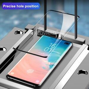 Image 3 - 3D 20D Pieno Curvo Copertura In Vetro Temperato per Samsung Galaxy S10E S10 5G S9 S8 Più S7 Bordo Nota 8 9 A8 2018 Pellicola Della Protezione Dello Schermo