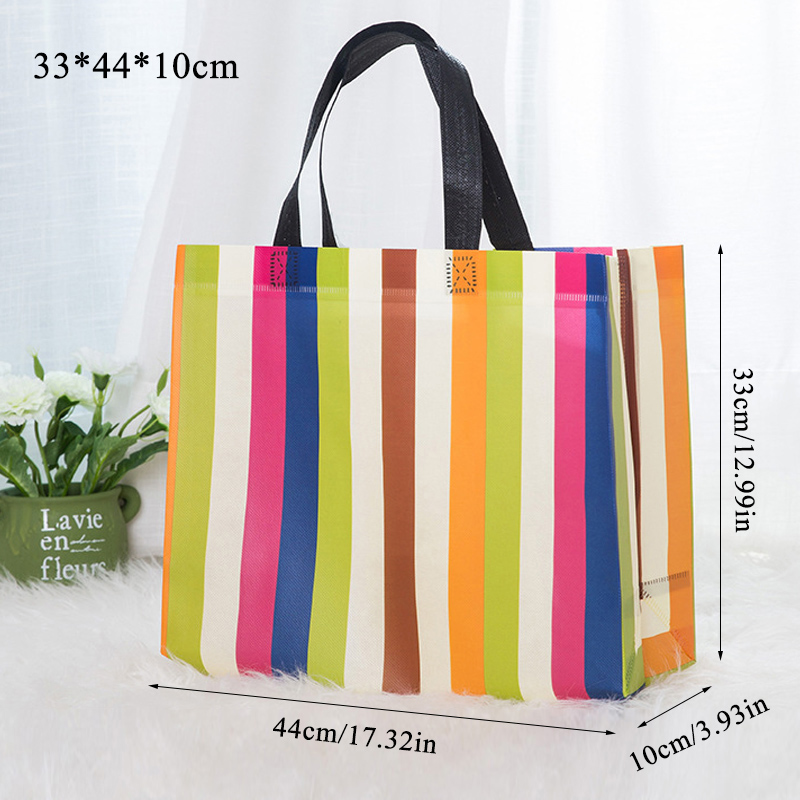 Portable Environmental Protection Shopping Bag Non-woven Bag Custom Printed Logo Film Non-woven Folding Bag Spot Fabric Tote Bag