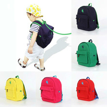 Famous Brand Kids Backpack 2016 Korean Preppy Style Canvas Leash Polo For Girls Boys High Quality School Bags Mochila