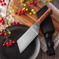 스테인레스 스틸 미니 주방 요리사 나이프 정육점 칼 야외 고기 식칼 캠핑 요리 커터 커버와 칼을 자르고