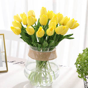 Tulips Artificial-Flowers Wedding-Decoration Pu-Calla Home for Favors 31pcs/Lot