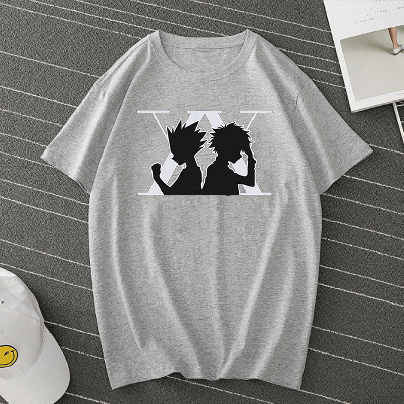 Funny T Shirts Men Hunter X Hunter Tee Tops Women 2020 Killua Zoldyck Baka Anime Shirt Summer Short Sleeve T Shirt Harajuku Top