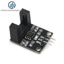 Feixe fotoelétrico sensor contador elétrico módulo lm393 contagem do motor velocidade sensor módulo de teste módulo acoplador sulco