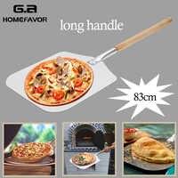 Aluminium Pizza Schaufel Schälen Mit Langen Holz Griff Gebäck Werkzeuge Zubehör Pizza Paddle Spachtel Kuchen Backen Cutter