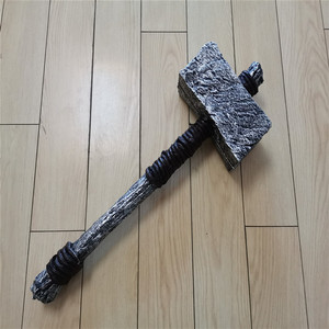 Cosplay Thor's Hammer PU Prop Primal Thor Hammer Weapon Model Role Playing Movie Aime Game PU Prop Model Weapon 63cm