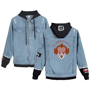 It-chapter 2 Denim Hoody Men/Women New Sale 2020 Casual Harajuku Hot it-chapter 2 Denim Jackets sweatshirt coat фото