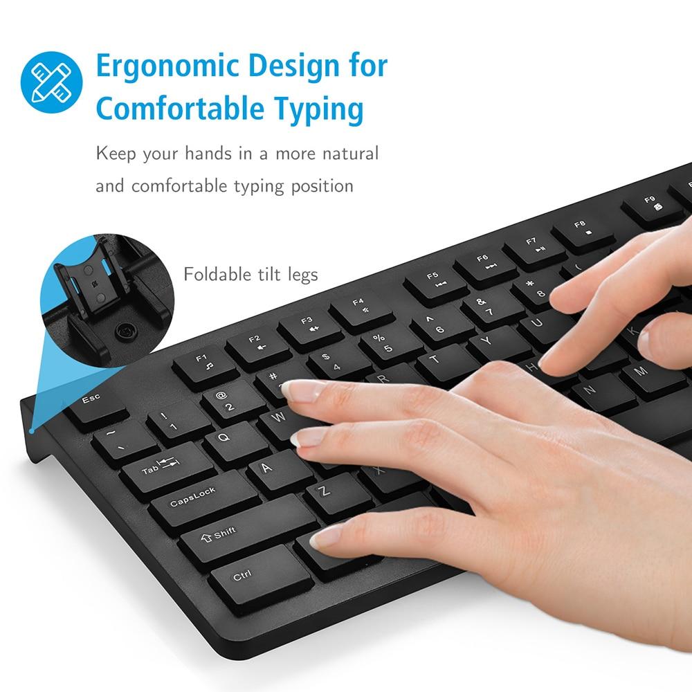 PC206 Wired Keyboard Portable Slim Membrane Chiclet Keyboard 104 Keycaps For Tablet Desktop Laptop PC Computer Keyboard (4)