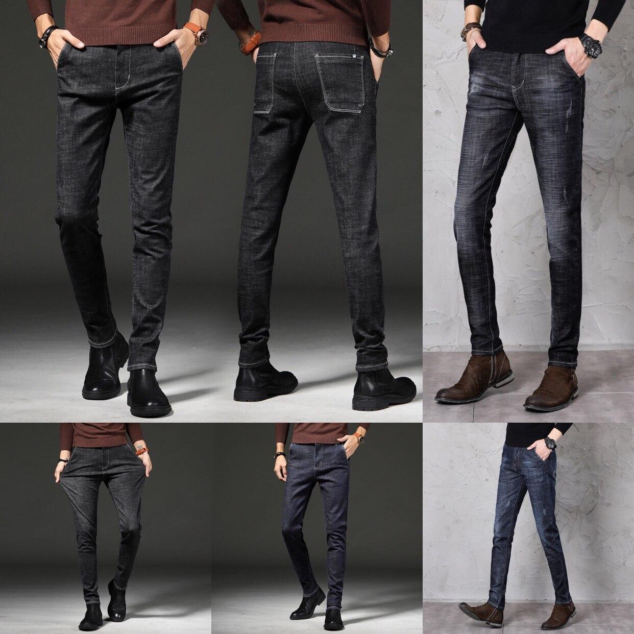 Autumn Jeans Men's Trend 2019 New Style Men Elasticity Casual Slim Fit Long Pants Popular Brand
