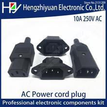 Hzy 2PIN 3PIN Core Power Line Plug Male Female Pin Plug Socket Charging Extension Line Plug Power Plug AC 10A 250V IEC 320 C13 cheap ETERNALFAR CN(Origin) piece 0 03kg (0 07lb ) 5cm x 5cm x 5cm (1 97in x 1 97in x 1 97in)
