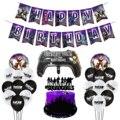 Набор для украшения детского дня рождения Fortnite, ручка из алюминиевой пленки с вытягивающим флагом для торта, украшение на Хэллоуин