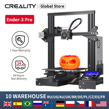 Newest CREALITY 3D Upgrade 3D Ender-3 Pro/Ender-3 ProX Printer Kit Cmagnetic Bulid Sticker Resume Print With Brand Power Supply