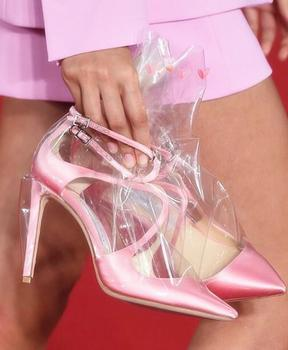 High With Women's Shoes Transparent Boots Sharp Fine With Sandals