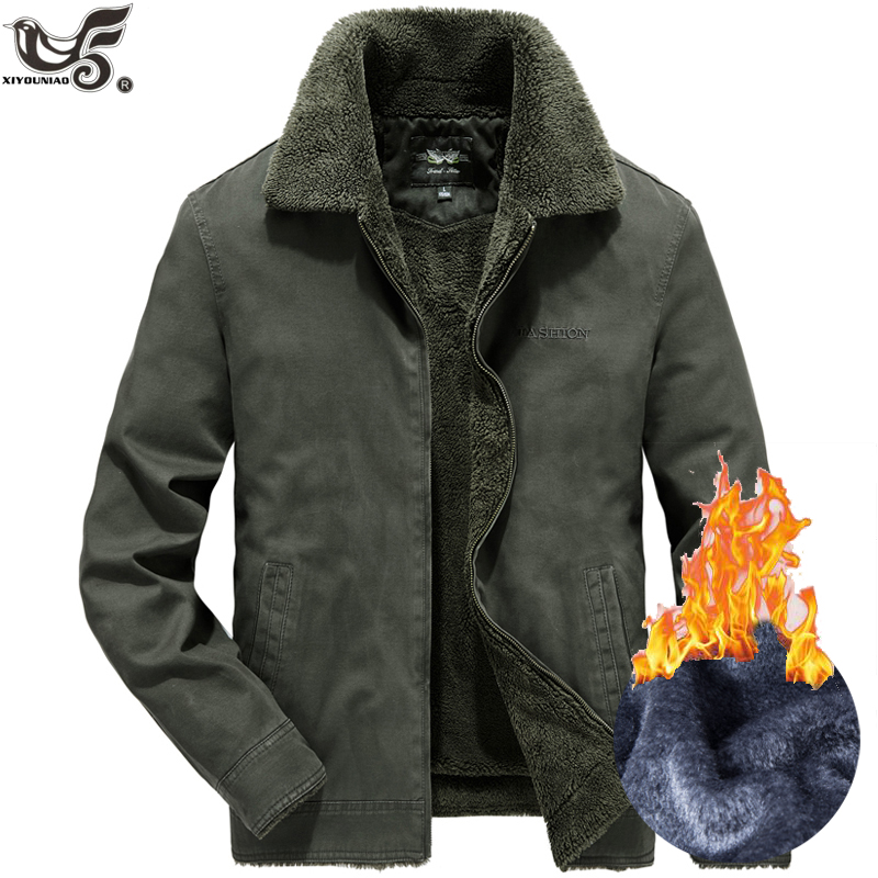 Fleece Jacket Clothing Parka Windbreaker Overcoat Military-Outwear Thick Men Brand Man title=