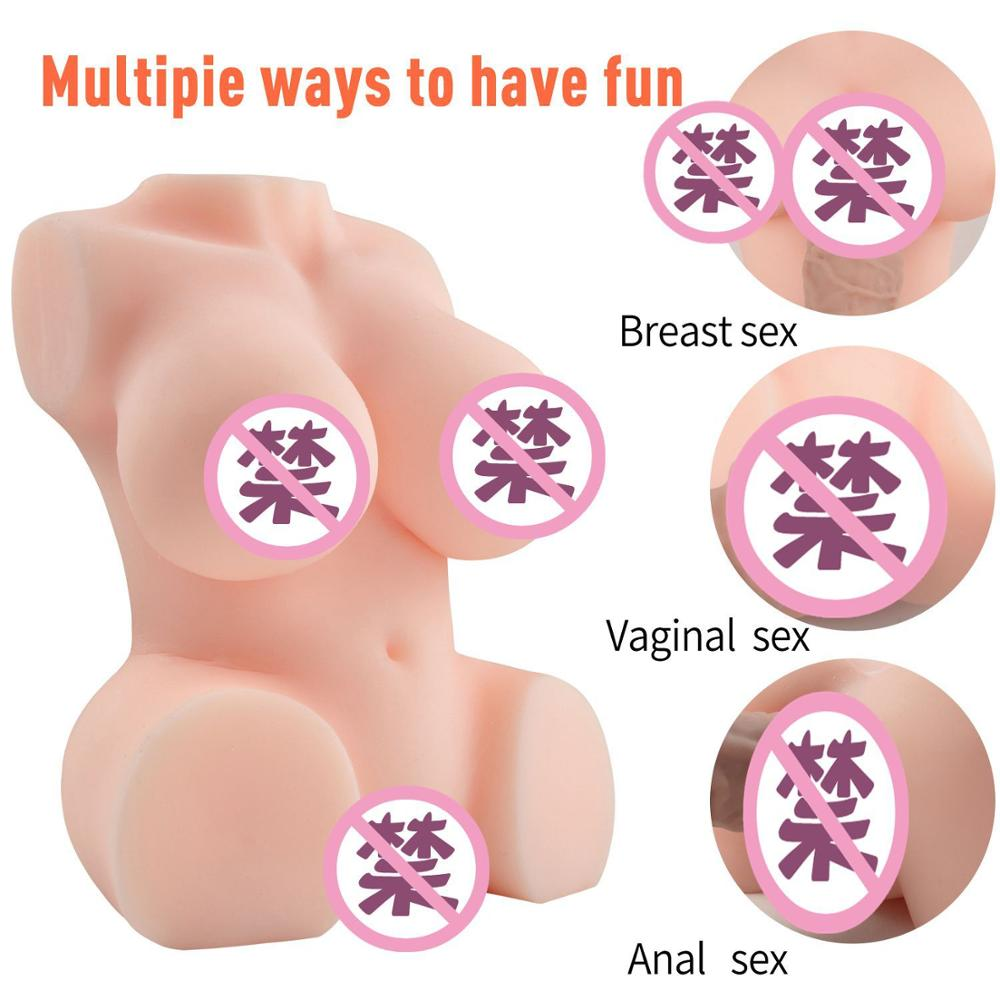 Silicone 3D Body Big Ass Sex Doll Realistic Vreast Vaginal Sex Masturbators For Man Tit Fuck Masturbators Half Body Sex Doll image
