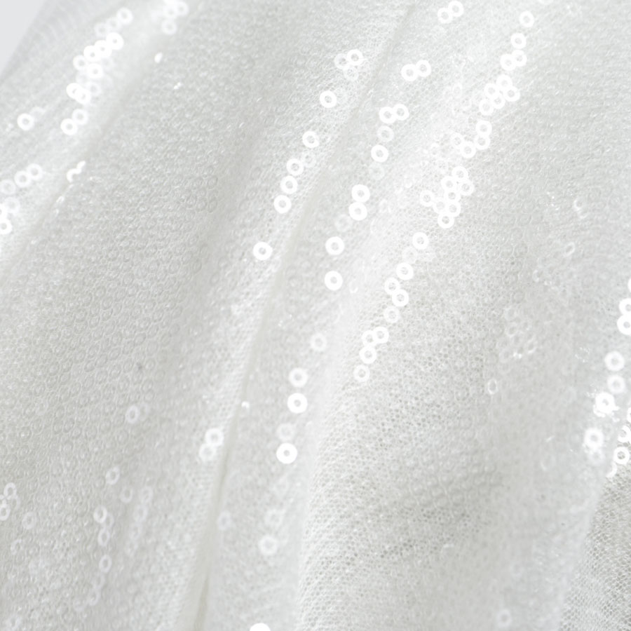 5 Yards Mesh Crepe Embossed Sequin Fabric Spot New Sequin Wedding Embroidery Fabric Can Print Mesh Sequin Embroidery