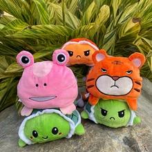 30Pcs/Set 15cm Reversible Turtle Sea Animals Vegetables Cauliflower Reversible Plush Toys Children's Gifts