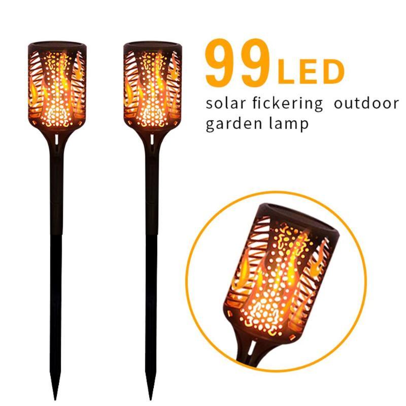 99LED Solar Torch Lamp Outdoor Flickering Flame Light Outdoor Waterproof Garden Solar Light Landscape Balcony Decoration