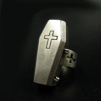 Undertaker Skull Gothic Antique Vampire Ring Stainless Steel