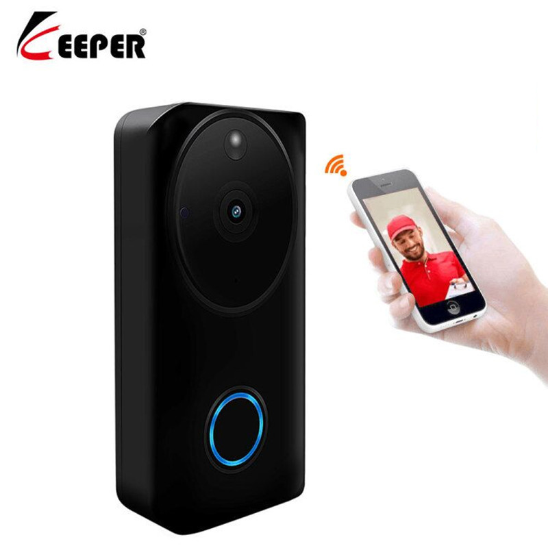 Keeper Tosee 1080P WiFi Doorbell Wireless  Security Camera Two-Way Audio With Night Vision Video Intercom Door Phone